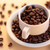 Coffee beans and white cup of coffee stock photo © ironstealth
