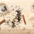 chá · saco · manchado · madeira · papel - foto stock © ironstealth