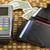 pagamento · sem · fio · carteira · dólar · notas - foto stock © ironstealth