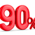 ninety percent on white background isolated 3d illustration stock photo © iserg
