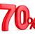 seventy percent on white background isolated 3d illustration stock photo © iserg