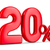 twenty percent on white background isolated 3d illustration stock photo © iserg