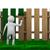 man paints fence on white background isolated 3d image stock photo © iserg