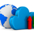 cloud and arrows on white background isolated 3d image stock photo © iserg