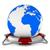 bolygó · védelem · izolált · 3D · kép · földgömb - stock fotó © iserg
