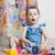 vicces · aranyos · gyerekek · játszik · játékok · otthon - stock fotó © iserg