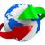 újrahasznosítás · szimbólum · ikon · piros · izolált · fehér - stock fotó © iserg