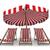 ligstoel · parasol · witte · geïsoleerd · 3D · afbeelding - stockfoto © iserg