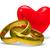 dois · isolado · coração · branco · 3D · imagem - foto stock © iserg