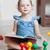 игрушку · книга · новорожденных · девочек · сидят · полу - Сток-фото © iserg