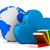 nuvem · livro · 3D · ícone · do · computador · escudo · isolado - foto stock © iserg