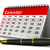 calendar and pen on white background isolated 3d image stock photo © iserg