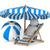 шезлонг · зонтик · белый · изолированный · 3D · изображение - Сток-фото © iserg