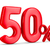 fifty percent on white background isolated 3d illustration stock photo © iserg