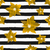 gold poinsettias and stripes seamless pattern stock photo © ivaleksa