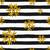 gold snowflakes and stripes seamless pattern stock photo © ivaleksa