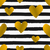 gold hearts and stripes seamless pattern stock photo © ivaleksa