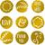 penseel · gouden · vector · icon · ontwerp · goud - stockfoto © ivaleksa