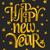 happy · new · year · carte · de · vœux · modèle · typographique · design · noir - photo stock © ivaleksa