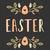 dibujado · a · mano · Pascua · tarjeta · de · felicitación · plantilla · estilo · huevo · de · Pascua - foto stock © ivaleksa