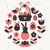 ovo · de · páscoa · vermelho · floral · elementos · páscoa · folha - foto stock © ivaleksa