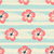 hibiscus flowers and stripes seamless pattern stock photo © ivaleksa