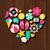 batidor · iconos · sombra · colección · colorido · vector - foto stock © ivaleksa
