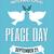 平和 · 日 · グリーティングカード · レトロな · 鳩 · オリーブ - ストックフォト © ivaleksa