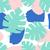 azul · verde · hojas · de · palma · blanco · sin · costura · vector - foto stock © ivaleksa