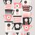 rétro · tasses · de · café · style · illustration · noir - photo stock © ivaleksa