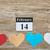 kalender · 14 · vorm · Rood · hart · liefde - stockfoto © ivicans