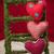 カラフル · ファブリック · 心 · 赤 · 背景 - ストックフォト © ivicans