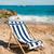 lege · gestreept · handdoek · zee · natuur - stockfoto © ivonnewierink
