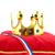 dourado · coroa · veludo · travesseiro · holandês · bandeira - foto stock © ivonnewierink