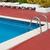 lege · outdoor · zwembad · Blauw · metaal · zilver - stockfoto © ivonnewierink