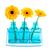 renkli · çiçekler · şişeler · küçük · kırmızı · mavi - stok fotoğraf © ivonnewierink