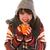 koud · winter · meisje · gelukkig · warme · chocolademelk · winterseizoen - stockfoto © ivonnewierink