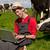 молодые · фермер · ноутбука · области · коров · рабочих - Сток-фото © ivonnewierink