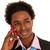 siyah · iş · adamı · cep · telefonu · genç · stüdyo · iş - stok fotoğraf © ivonnewierink