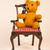 ベージュ · レトロな · 椅子 · ファブリック · スタイル - ストックフォト © ivonnewierink
