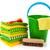 prodotti · di · pulizia · pulizia · vestiti · secchio · arancione · verde - foto d'archivio © ivonnewierink