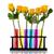 ongebruikelijk · Geel · paars · rozen · geïsoleerd · witte - stockfoto © ivonnewierink
