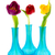tulipes · rose · blanche · peu · coloré · vase - photo stock © ivonnewierink