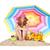 güneşlenme · plaj · renkli · güneş · şemsiyesi · kadın · oturma - stok fotoğraf © ivonnewierink