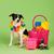 mixto · raza · perro · foto · estudio · feliz - foto stock © ivonnewierink