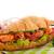 croissant · salmão · legumes · croissants · alface · tomates - foto stock © ivonnewierink