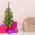 rosa · cadeira · verde · parede · interior · cena - foto stock © ivonnewierink