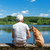 коричневая · собака · стены · саду · белом · доме · собака · древесины - Сток-фото © ivonnewierink