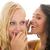 black and white girls gossip stock photo © ivonnewierink