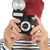 portrait retired man taking picture stock photo © ivonnewierink